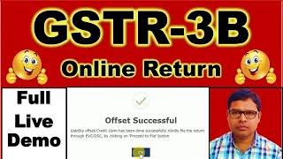 GSTR3B Online Return | How to File GSTR-3B with GST Payment | GSTR3B Return कैसे फाइल करें |