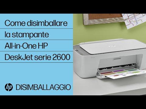Come disimballare la stampante All-in-One HP DeskJet serie 2600