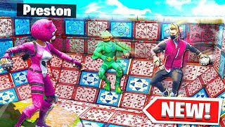 FORTNITE *NEW* 1v1v1v1 DEATH BALL KING of THE HILL (Spiky Stadium Battle Royale)