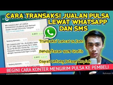 Cara bertransaksi / berjualan pulsa & kuota lewat wa dan sms - AGEN PULSA TERBAIK