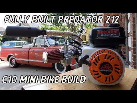 Fully Building An Insane Hemi Predator 212 For the C10 Mini Bike - Build  Break Repeat