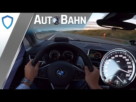 AutoBahn - BMW 220i Active Tourer (2020) - POV | 100-200 km/h | Vmax