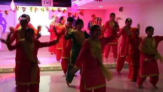 Meenakshi World School - Student Exchange Programme (Bhangra Performance)