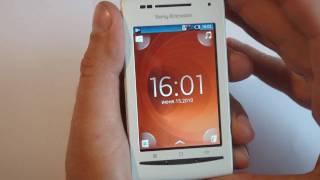 Телефоны Sony Ericsson, Sony Ericsson XPERIA X8 first look (rus)