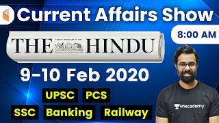 8:00 AM - Daily Current Affairs 2020 by Bhunesh Sir   9-10 February 2020   wifistudy