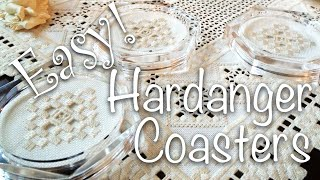Hardanger Embroidery Lesson For Beginners, Hardanger Embroidery In A Coaster