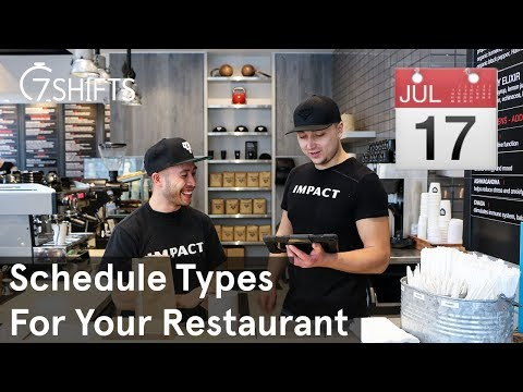 7 Types of Work Schedule For Your Restaurant youtube video thumbnail
