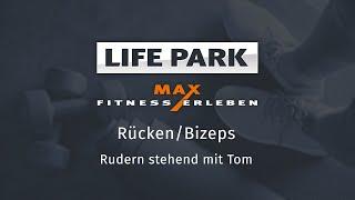 Training mit Tom 07 – Rücken/Bizeps – Rudern stehend