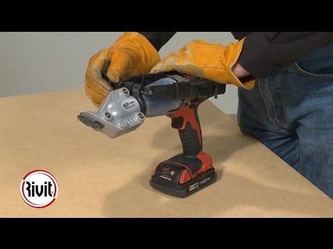 Rivit TURBO SHEAR MALCO TSMD | Cesoia per trapano a doppio taglio | Cutting turbo shear double cut