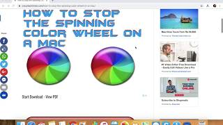 How to Stop the Spinning Color Wheel on a MAC without losing Work or Data