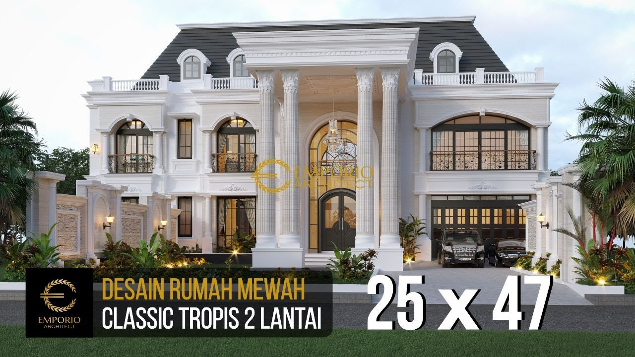 Video 3D Mr. Imam Classic House 2 Floors Design - Semarang
