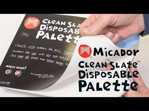 Micador Clean Slate Disposable Palette, Pad 40