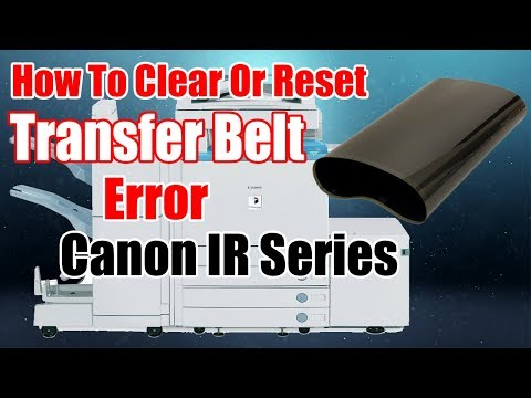 How to clear or reset error in Canon imageRUNNER C2220i