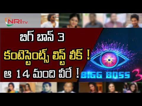 Bigg boss 3 telugu contestants list   NRI TV download