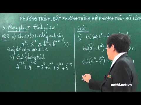 Chương 2-Bài 8-Phương trình, bất phương trình mũ và logarit (p3)