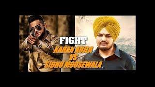 Fight Punjabi Singer/Lyrical Sidhu Moose Wala, Karan Aujla
