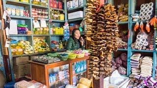 Haa Valley Bhutan - Hoentay Dumplings, ROCK HARD Cheese, And Local Bhutanese Food! (Day 8)