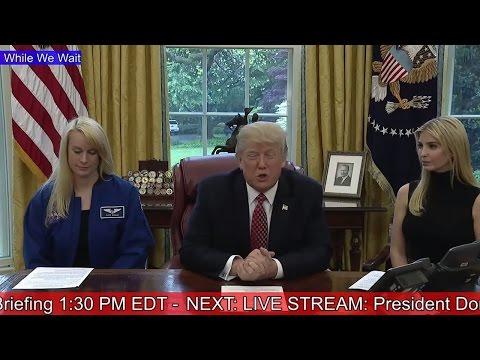 AMAZING: President Donald Trump & Ivanka Trump NASA Astronauts International Space Station ISS News