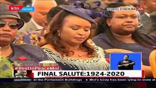 President of Rwanda Paul Kagame pays tribute to Former President Moi