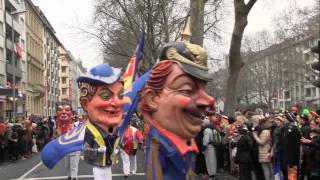 preview picture of video 'Rosenmontagszug in Mainz, Karneval 2015'