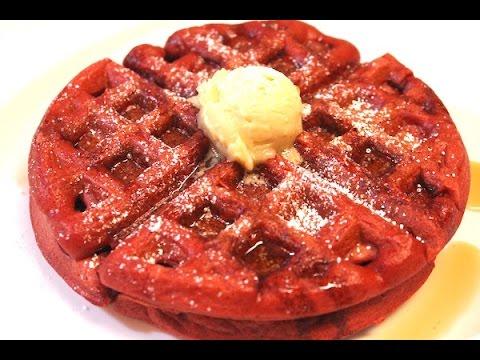 Red Velvet Waffles Recipe – I Heart Recipes
