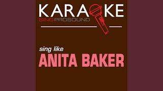 Good Enough (Karaoke Instrumental Version) (In the Style of Anita Baker)