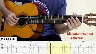 Berpisah Itu Mudah   Rizky Febian & Mikha Tambayong   Fingerstyle Guitar Cover   Tutorial TAB.