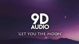 Kina - Get you the moon | 9D AUDIO (with rain)