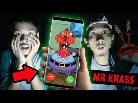 TELEPON MR. KRABS JAM 12 MALAM DI TENGAH SAWAH!!