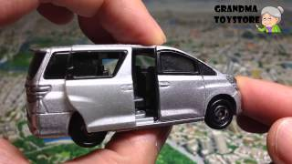 Unboxing TOYS Review/Demos - TomicaToyota Vellfire silver big sized mini van with 2 doors sccoer mom