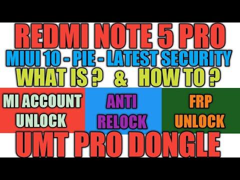 MI REDMI NOTE 5 PRO | MEI7S | FRP | MI ACCOUNT | UNLOCK | WITH UMT