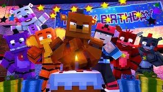 Minecraft FNAF 6 Pizzeria Simulator - FREDDY'S BIRTHDAY! (Minecraft Roleplay)