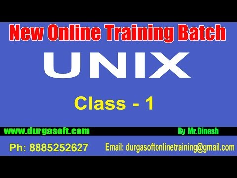 UNIX Online Training || Class - 1 || by Dinesh