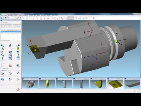 OPUS CAM Software - Zusammenbau eines komplexen Drehwerkzeuges