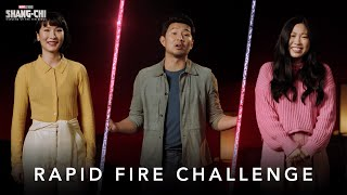 Rapid Fire Challenge | Marvel Studios' Shang-Chi and The Legend of The Ten Rings