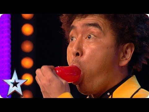 Magician Tanba's DEADLY diet!   BGT Unforgettable Auditions (видео)