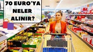 ALMANYA'DA HAFTALIK MARKET ALIŞVERİŞİ 🛍- 70 EURO'YA NELER ALINIR?!⎢ALMANCILAR