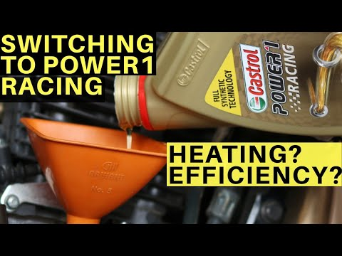 SWITCHED TO CASTROL POWER1 RACING 10W40 AFTER MOTUL 300V & LIQUI MOLY STREET RACE TVS APACHE RTR 200