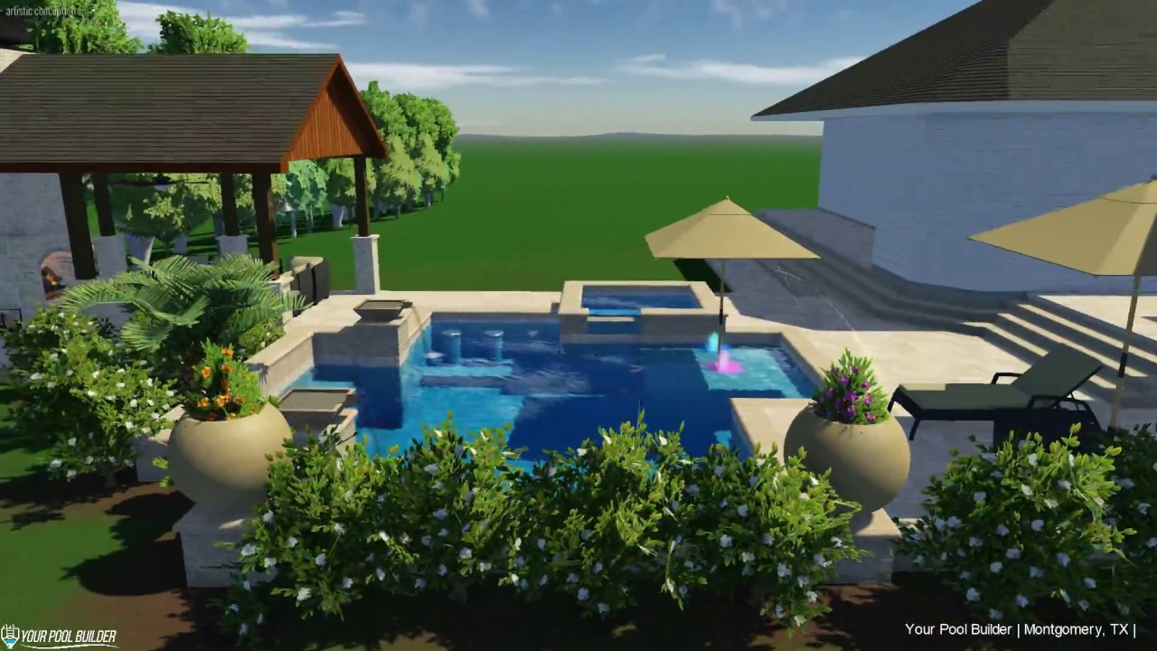3D Pool Design in Montgomery, TX | Your Pool Builder Montgomery