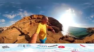360 VR видео Тенерифе: Montana Amarilla (Costa Del Silencio)