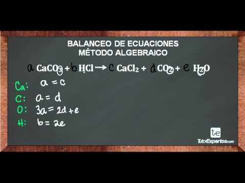Ejercicios de balanceo de ecuaciones
