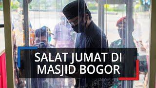 Salat Jumat di Masjid Baitur Ridwan Bogor, Jemaah Dicek Suhu Tubuh hingga Jaga Jarak