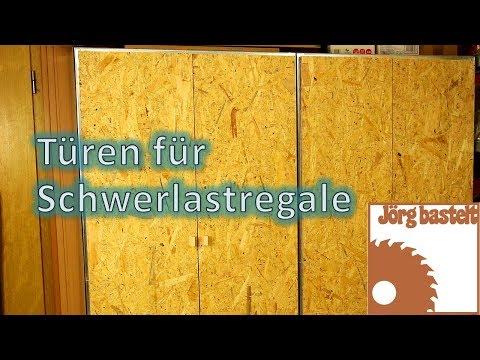 Bau von Türen für Schwerlastregale