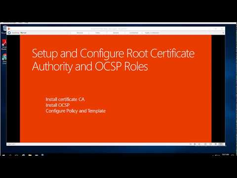 Setup and Configure Root CA PKI Certificate Server 2016 - YouTube
