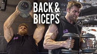 Back & Biceps Dumbbell Workout