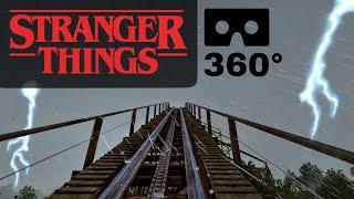360° VR Stranger Things Roller Coaster Demogorgon Netflix Ride POV 360 도 롤러코스터 ジェットコースター