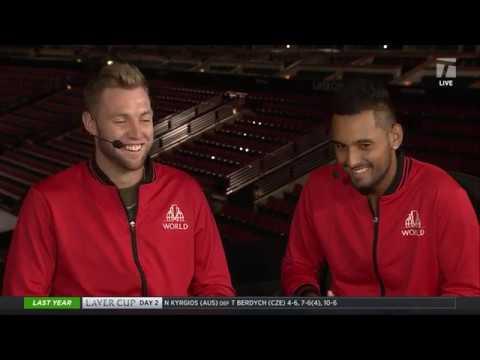 Team World's Nick Kyrgios & Jack Sock - 2018 Laver Cup Tennis Channel Desk Visit