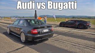 1300HP Audi S4 B5 vs 1500HP Bugatti Chiron