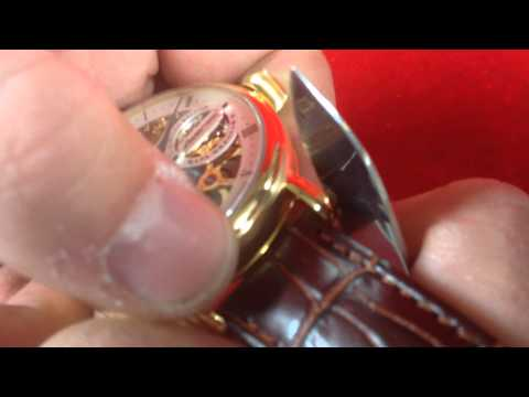 Uhrenarmband wechseln bei Poljot24.de / How to change a leather strap , with english subtitles