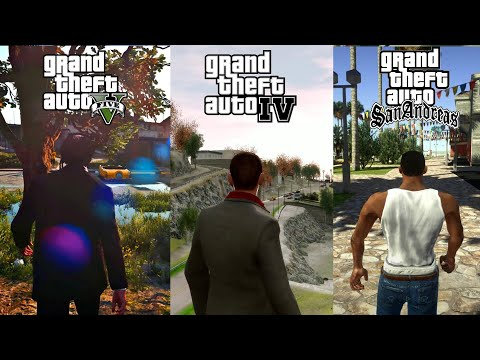 GTA V NaturalVision vs GTA IV E ENB vs GTA SA DirectX 2 0